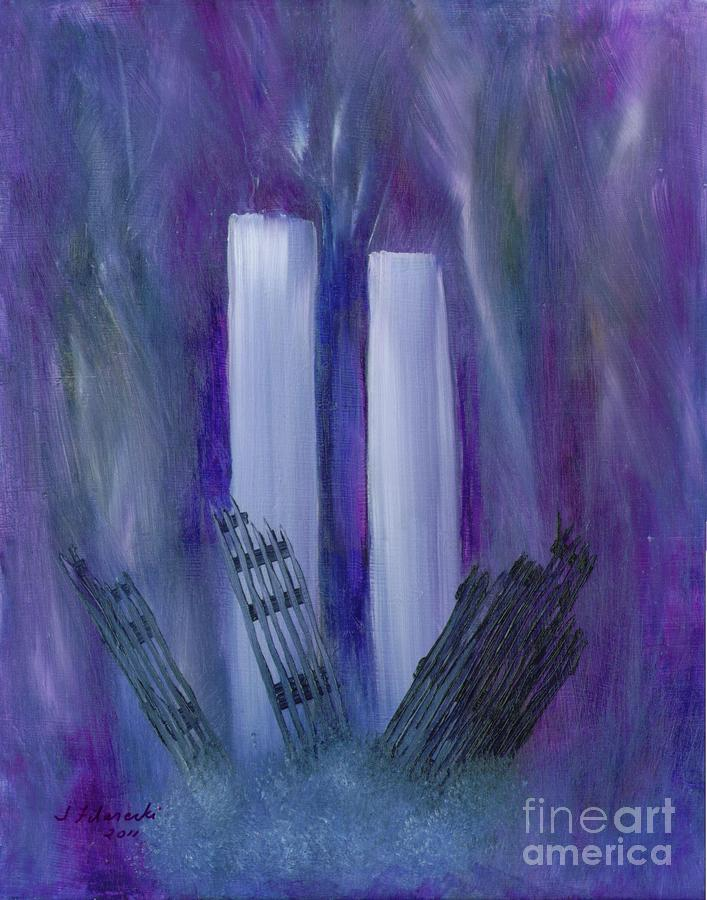 911 Painting - 9-11 Remembering by Judy Filarecki