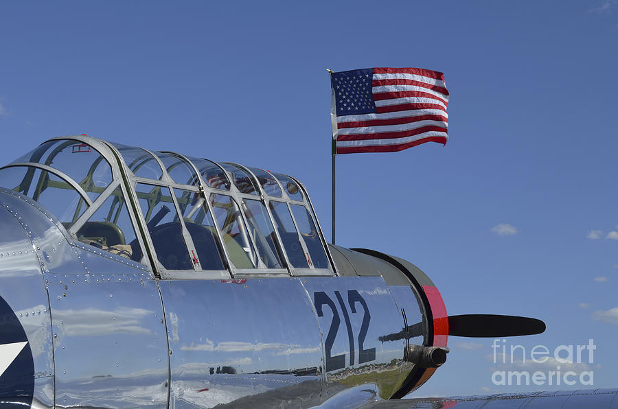 Aviation Photograph - A Bt-13 Valiant Trainer Aircraft by Stocktrek Images