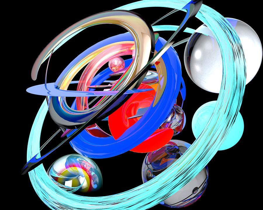 Abstract Digital Art - Abstract Shape by Bogdan Floridana Oana
