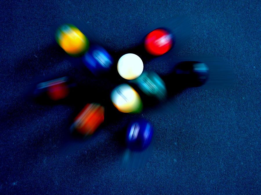 Pool Photograph - 9 Ball Break by Nick Kloepping