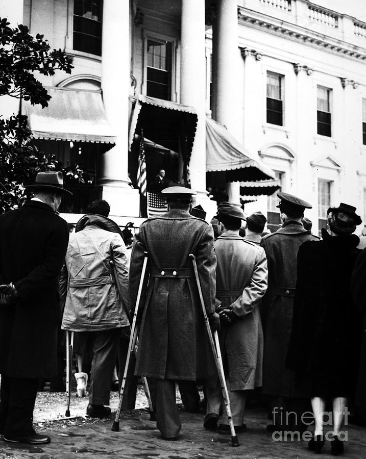 1945 Photograph - Franklin D. Roosevelt by Granger