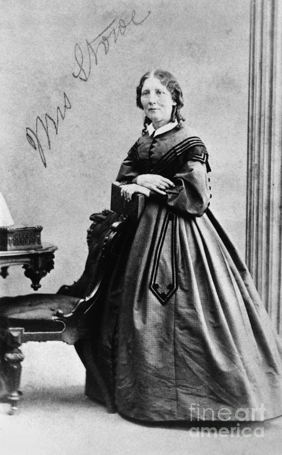 1860 Photograph - Harriet Beecher Stowe by Granger