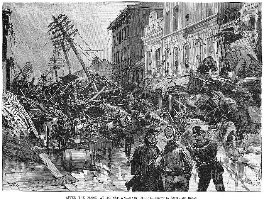 1889 Photograph - Johnstown Flood, 1889 by Granger