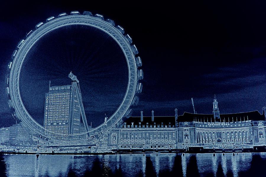 London Digital Art - London Eye Art by David Pyatt