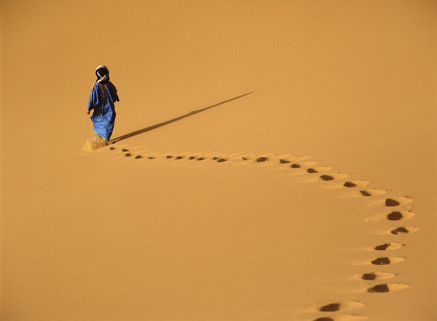Walking Photograph - Merzouga, Morocco by Axiom Photographic