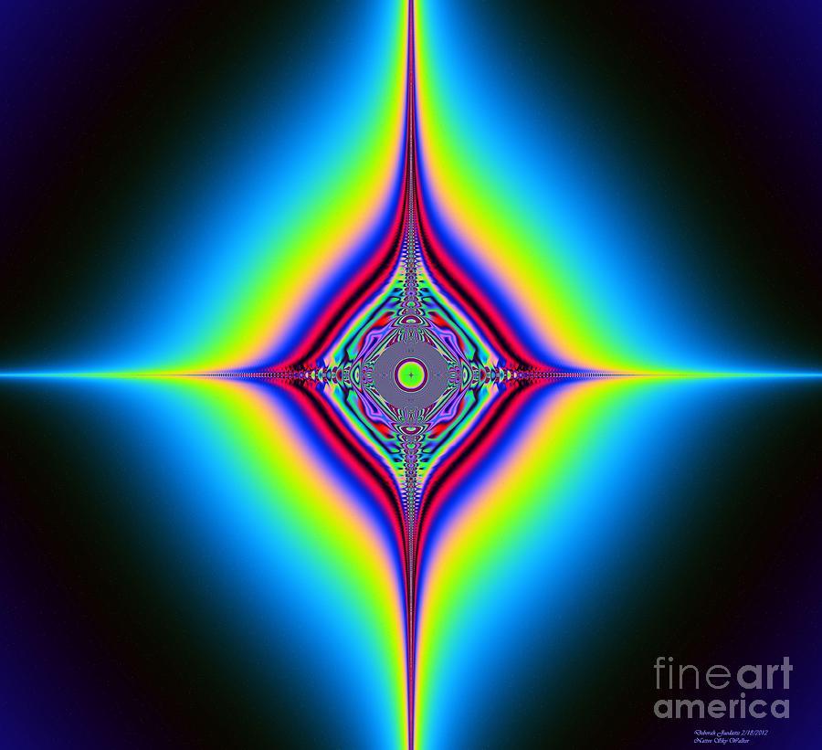Planetary Star Rings Digital Art by Deborah Juodaitis