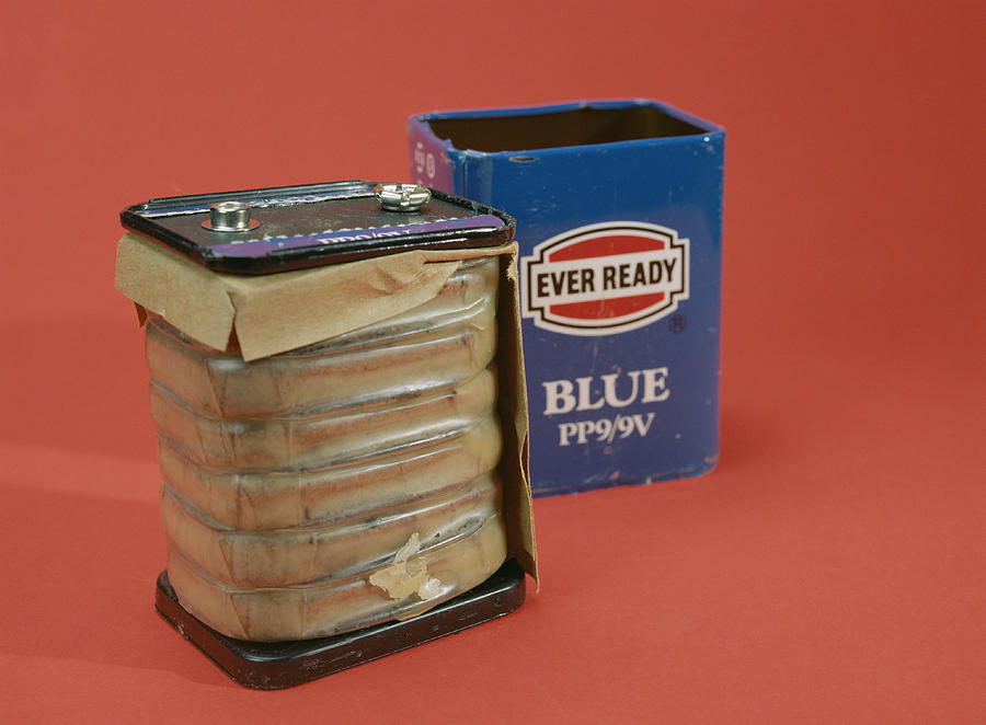 Ever Ready Photograph - 9 Volt Battery by Andrew Lambert Photography