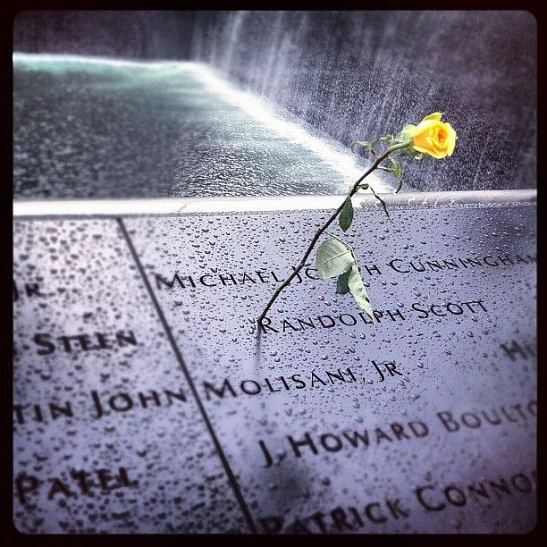 Summer Photograph - 9/11 Memorial by Randy Lemoine