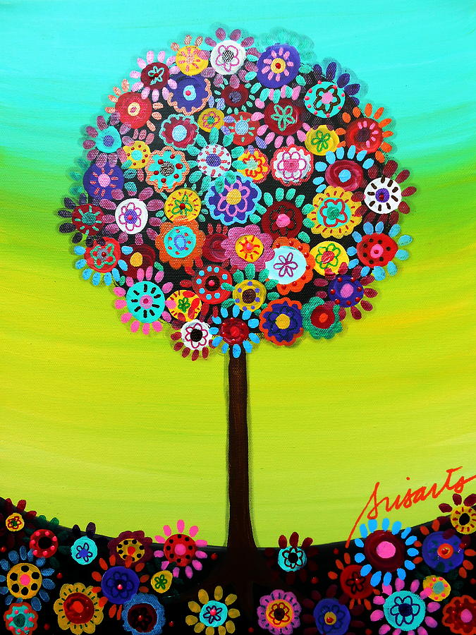 Bar Painting - Tree Of Life by Pristine Cartera Turkus