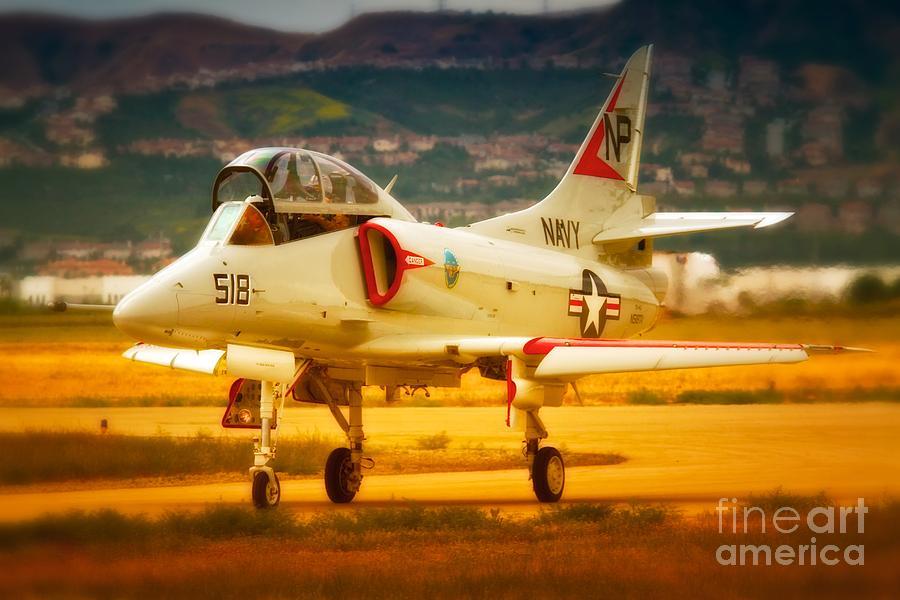 Airplane Photograph - A-4 Skyhawk Up For A Hunt by Gus McCrea