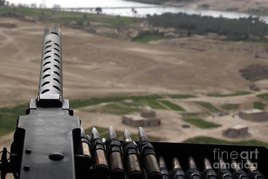 a 50 caliber machine gun mounted photograph by stocktrek images