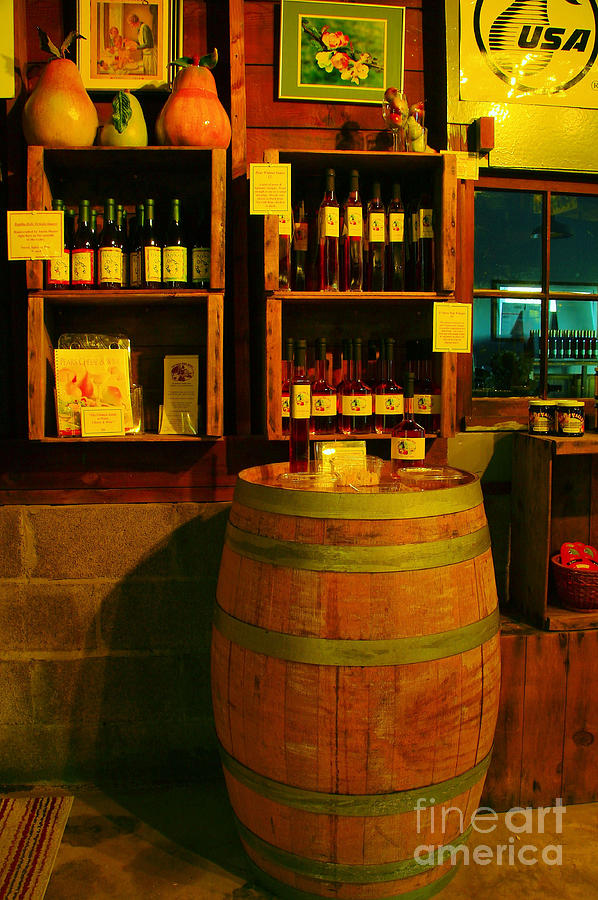 Still Life Photograph - A Barrel And Wine by Jeff Swan