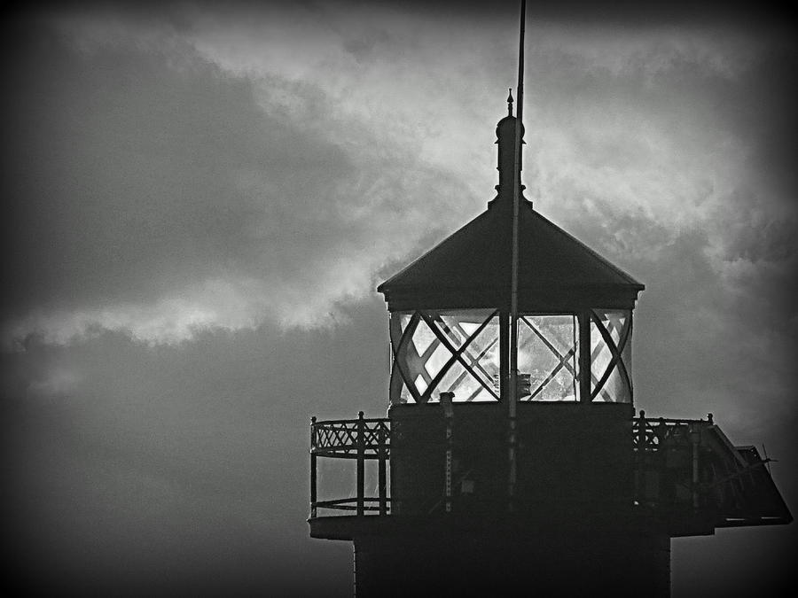 Lighthouse Photograph - A Beacon In The Night by Kay Novy