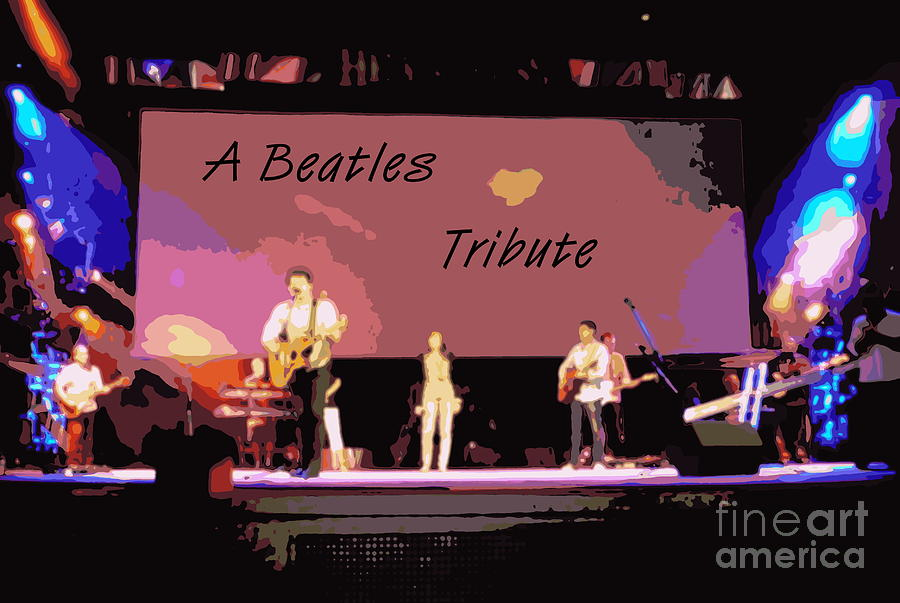Band Digital Art - A Beatles Tribute by Renee Trenholm