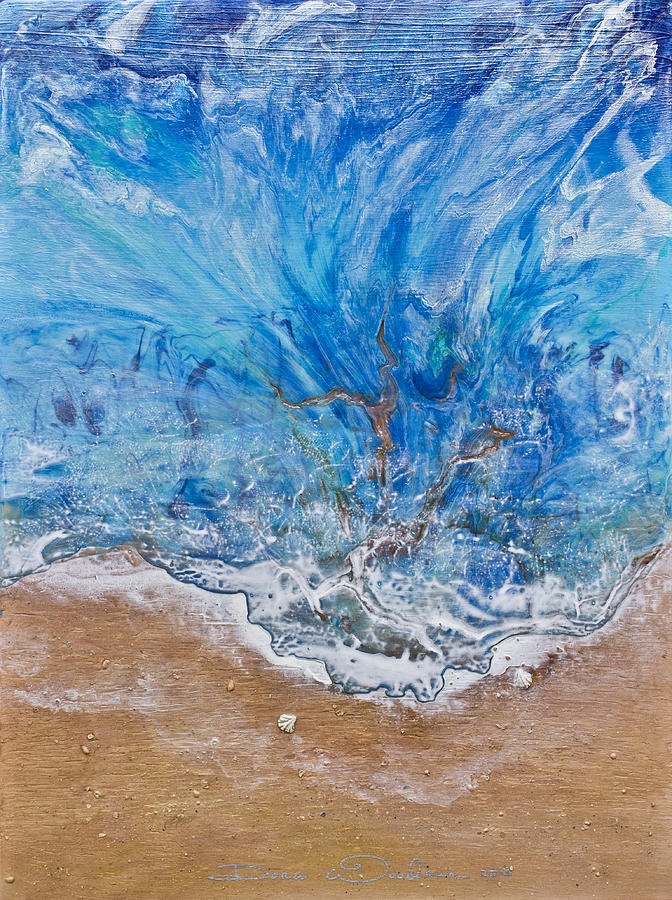 Abstract Paintings Painting - A Beautiful Beach 1 by Dora Woodrum