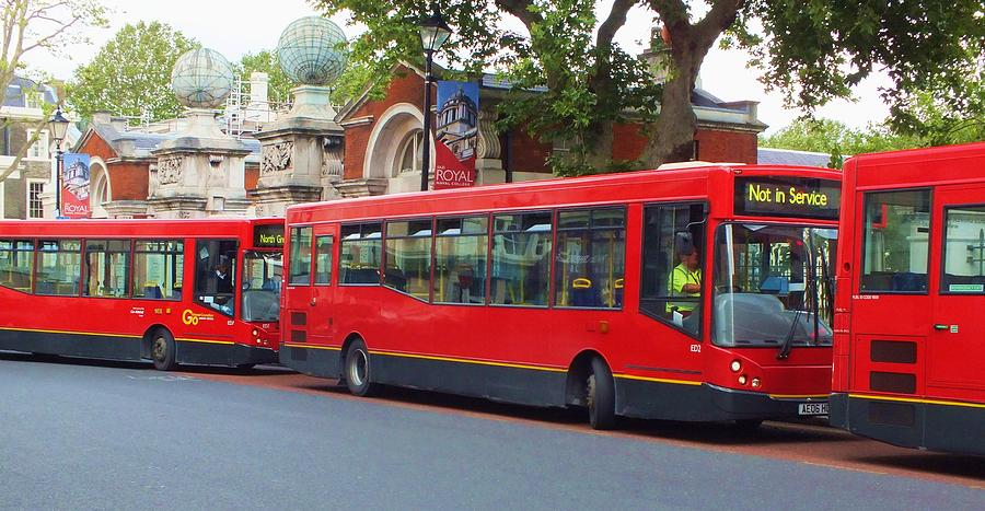 Buses Photograph - A Bevy Of Buses by Anna Villarreal Garbis