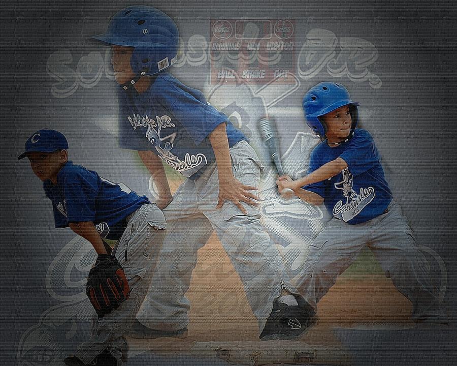 Baseball Digital Art - A Boys Playtime by Valentin Tristan