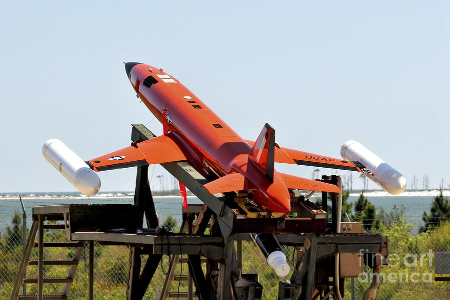 Rear View Photograph - A Bqm-167a Subscale Aerial Target by Stocktrek Images