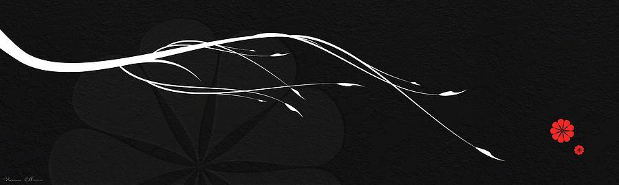 Abstract Digital Art - A Branch by Nomi Elboim