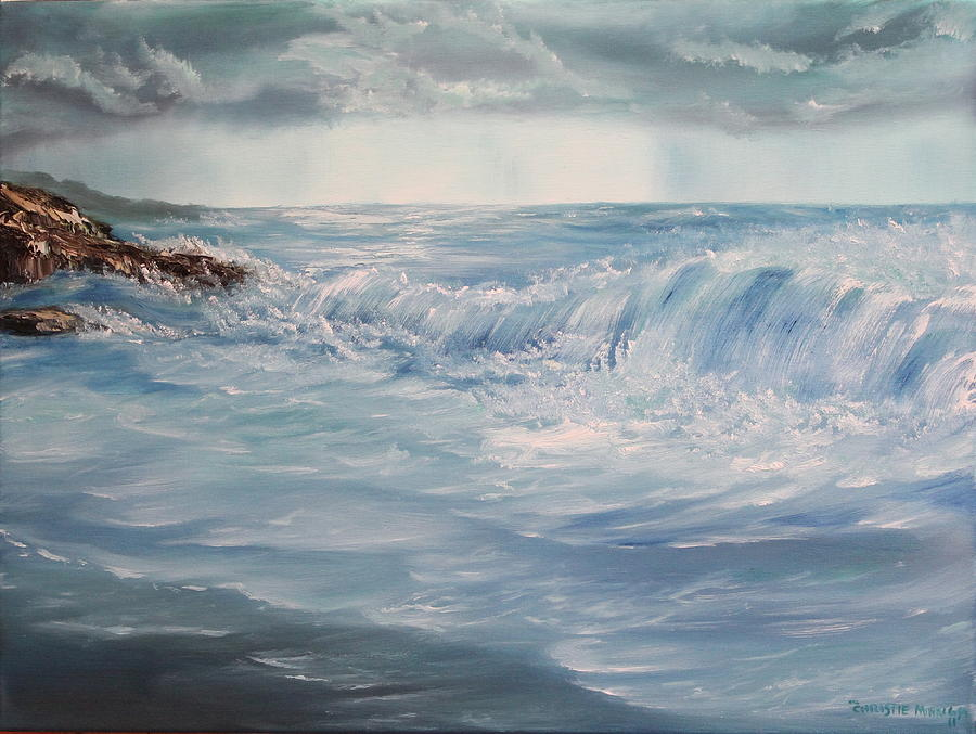 Storm Painting - A Break In Storm by Christie Minalga