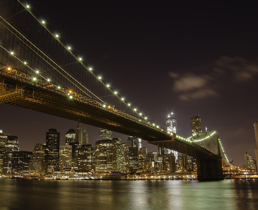 Night Photograph - A Brooklyn View by Alex Ching