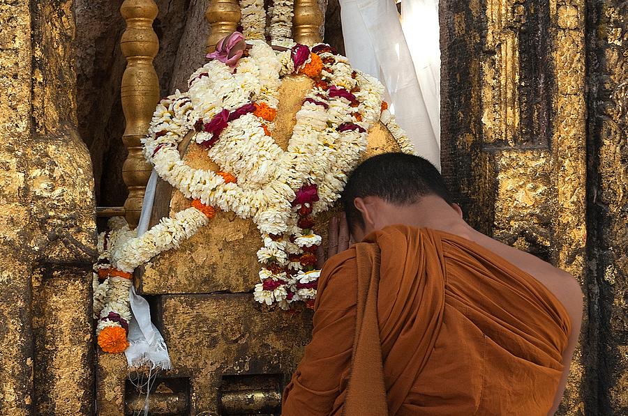 Budhism Photograph - A Budhist Devotee by Mukesh Srivastava