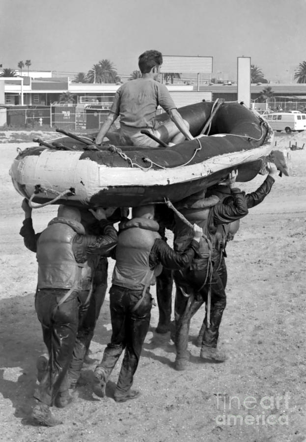 Military Photograph - A Buds 1st Phase Boat Crew Carry An by Michael Wood