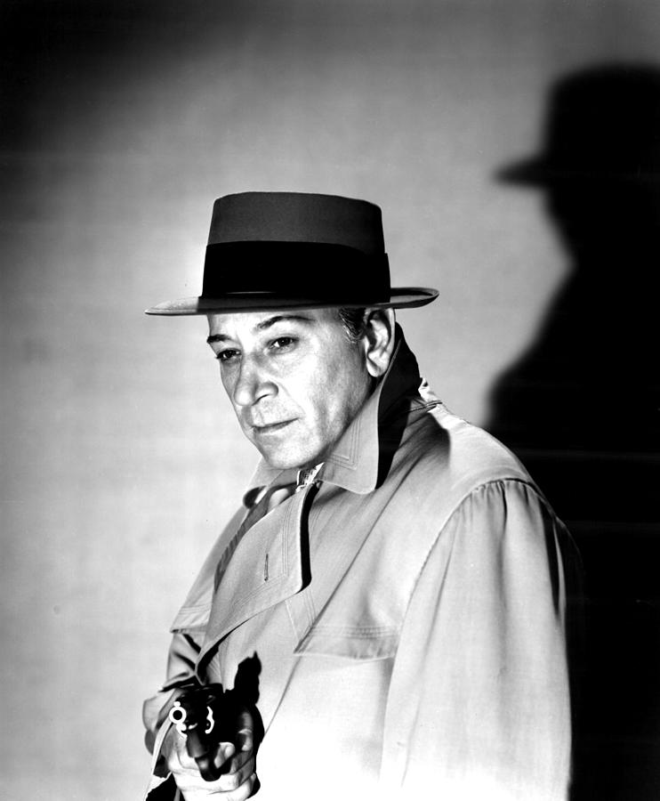 Criminal Photograph - A Bullet For Joey, George Raft, 1955 by Everett