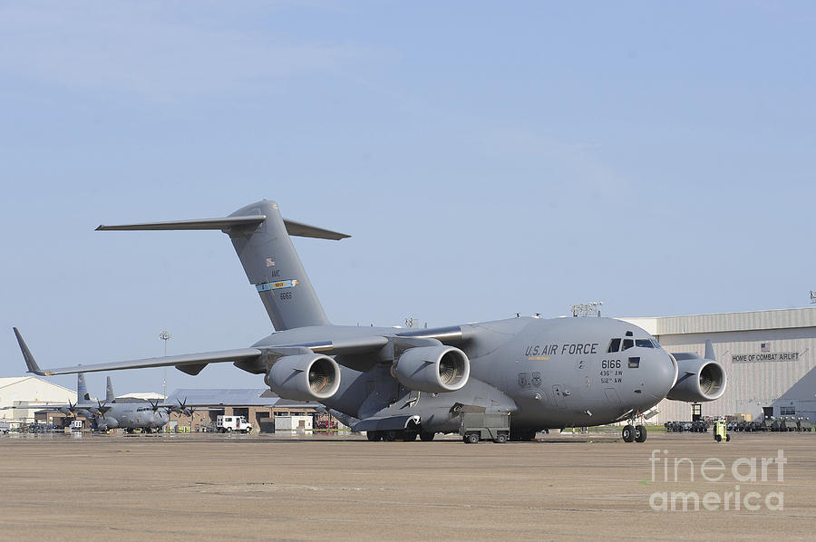 Military Photograph - A C-17 Globemaster IIi Parked by Stocktrek Images