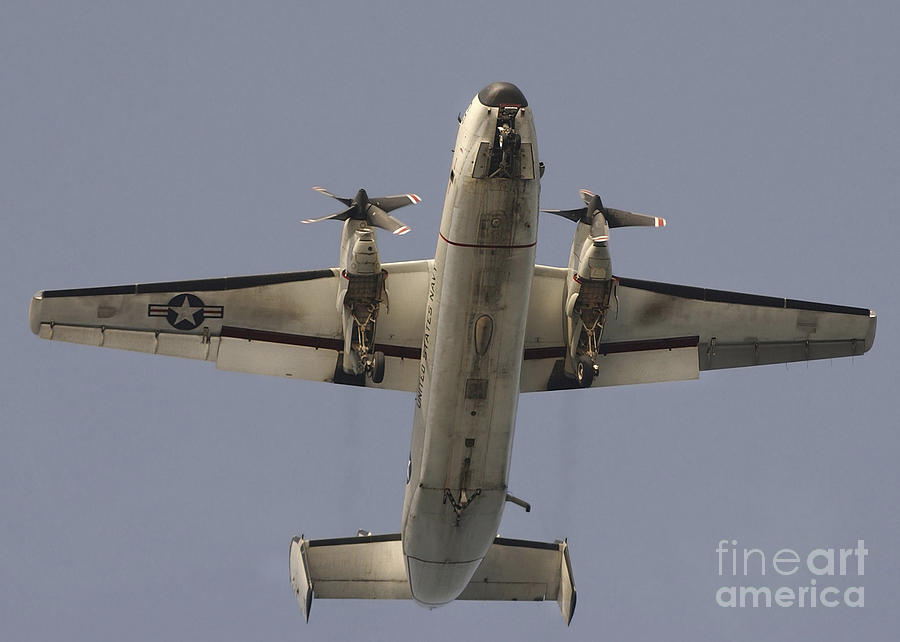 Horizontal Photograph - A C-2 Greyhound In Flight by Stocktrek Images