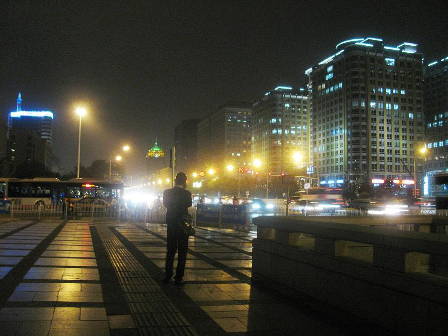 Night Photograph - A Call For You by Alfred Ng