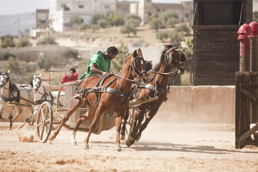 Ruins Photograph - A Chariot Race In The Hippodrome by Taylor S. Kennedy