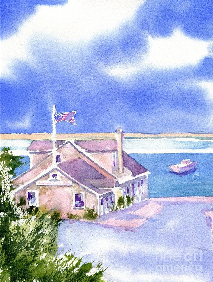 Chatham Ma Painting - A Chatham Fish Market by Joseph Gallant