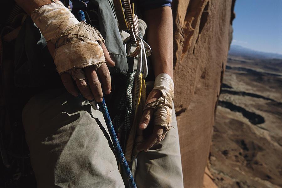 Anatomy Photograph - A Close View Of Rock Climber Becky by Bill Hatcher