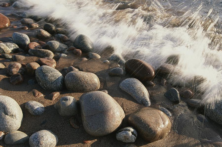 Rock Photograph - A Close View Time Exposure Of Surf by Michael S. Lewis