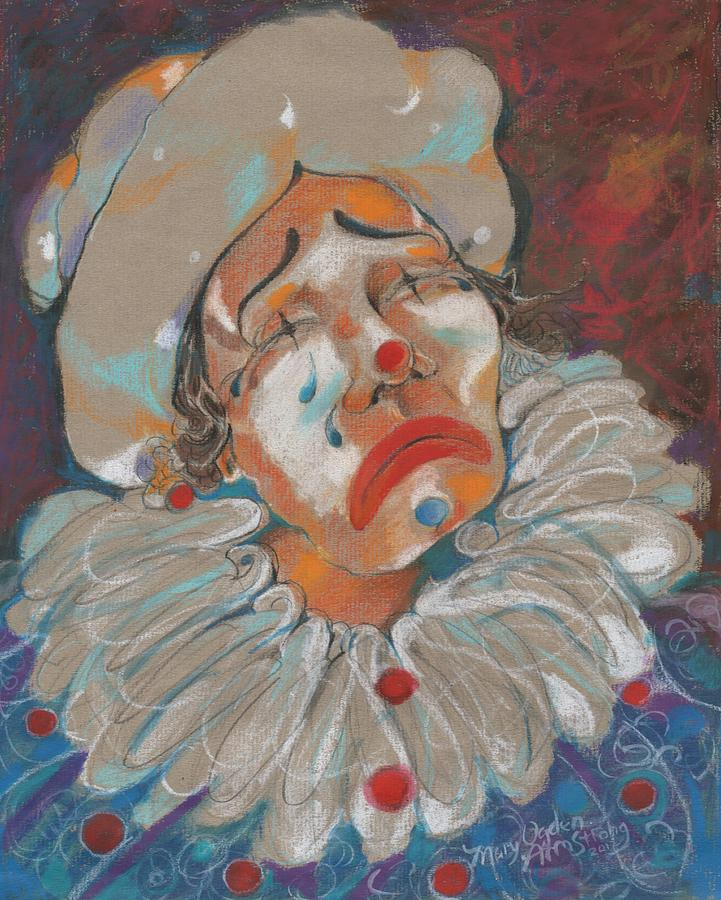 Clown Painting - A Clown Face by Mary Armstrong