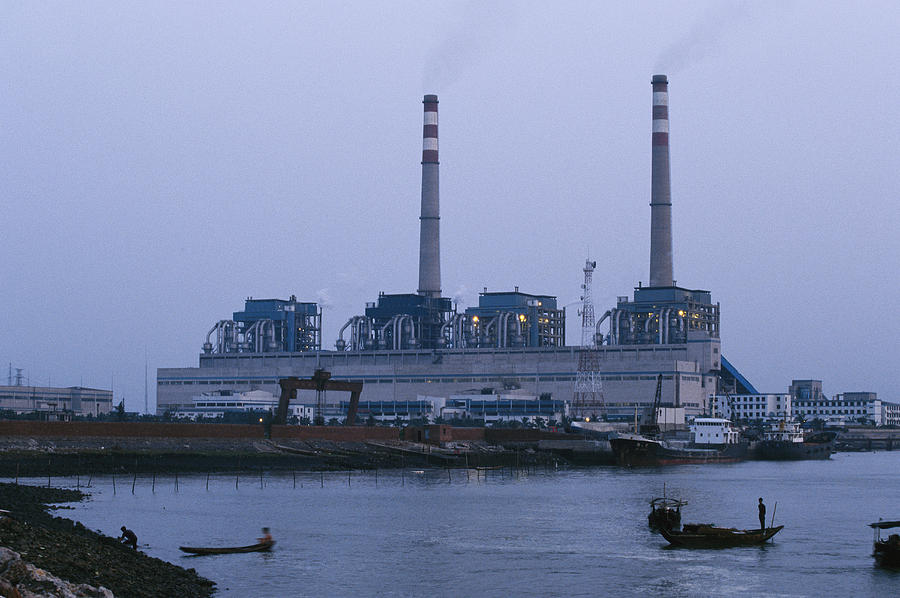 Asia Photograph - A Coal Burning Power Plant That Uses by Justin Guariglia