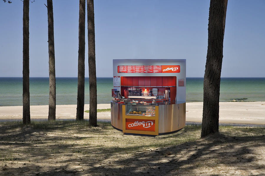 Mood Photograph - A Coffee Bar And Drinks Kiosk by Jaak Nilson