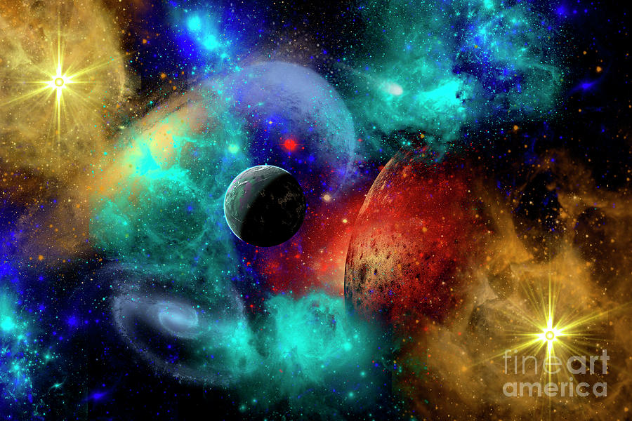 A Colorful Part Of Our Galaxy Digital Art by Mark Stevenson