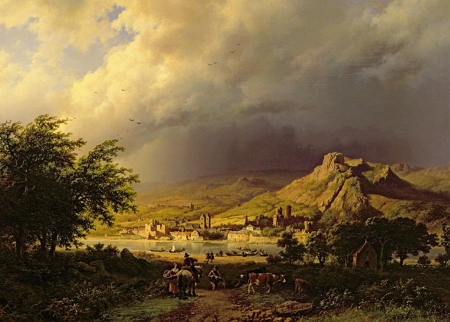 Storm Painting - A Coming Storm by Barend Cornelis Koekkoek