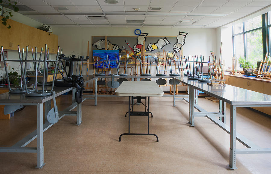 No People Photograph - A Community Centre Art Room And Studio by Marlene Ford