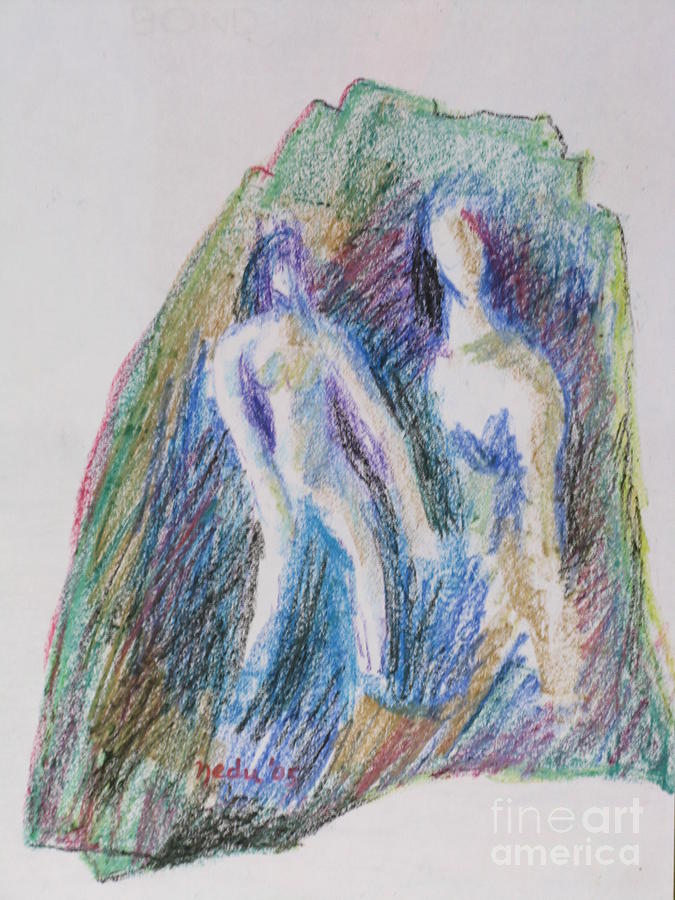 Drawing Painting - A Couple by Nedunseralathan R