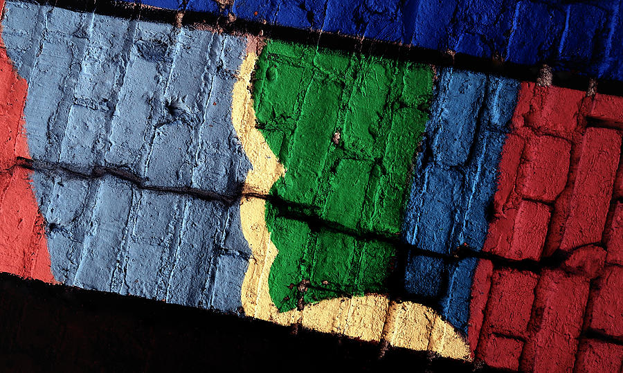 Abstracts Photograph - A Crack Runs Through It - Urban Rainbow by Steven Milner