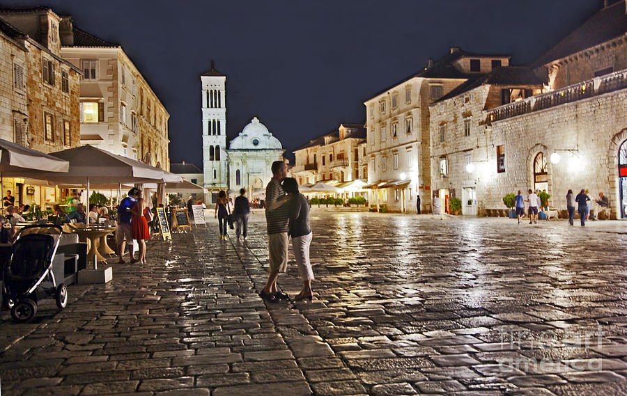 Couple Photograph - A Croatian Night by Madeline Ellis