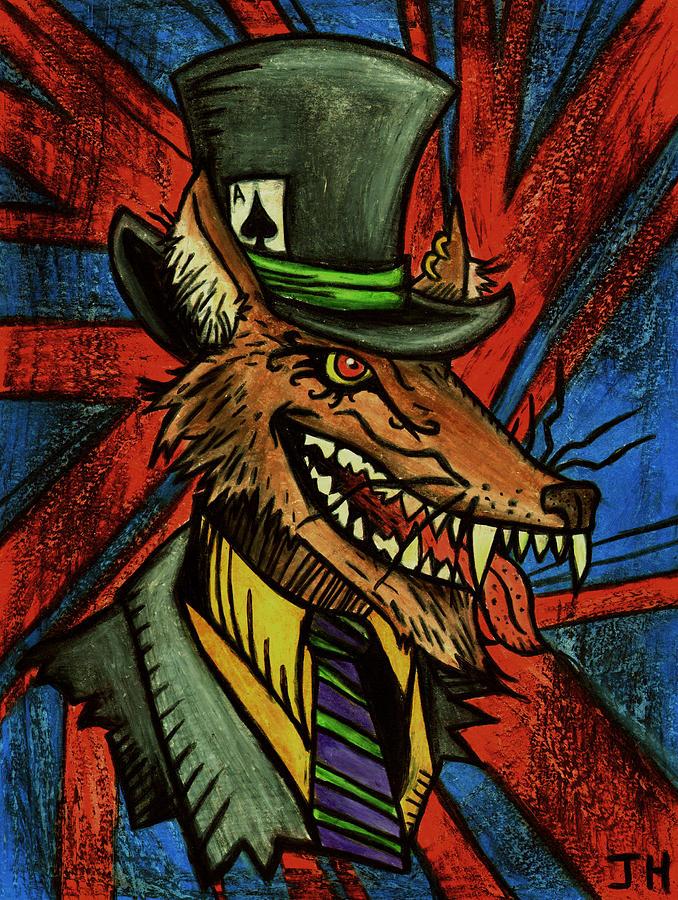 Fox Drawing - A Dapper Rogue by John  G L Horvath