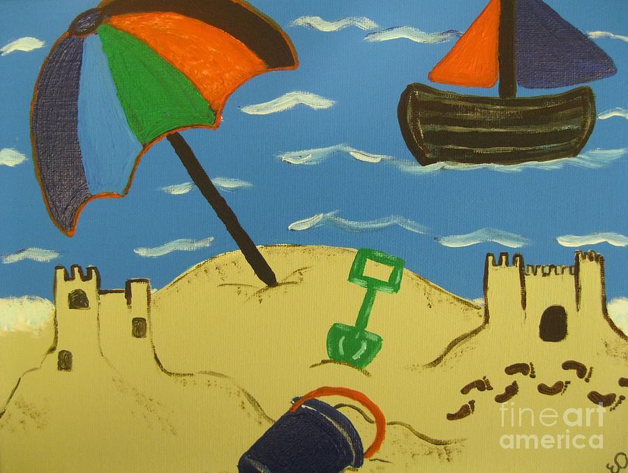 Sun Painting - A Day At The Beach by Eva  Dunham