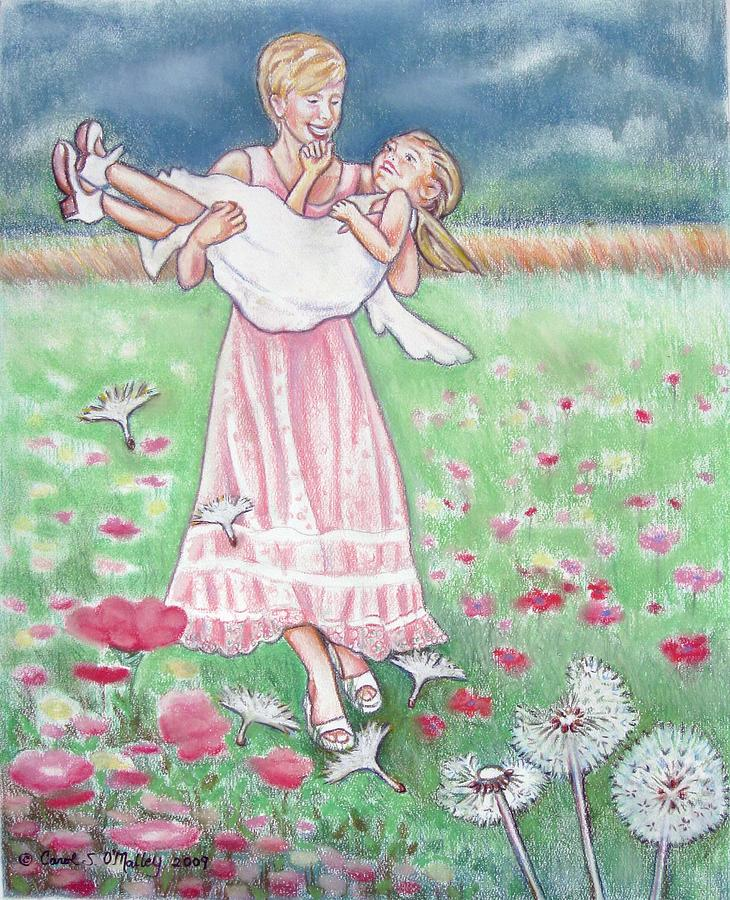 Field Of Flowers Pastel - A Day To Remember by Carol OMalley