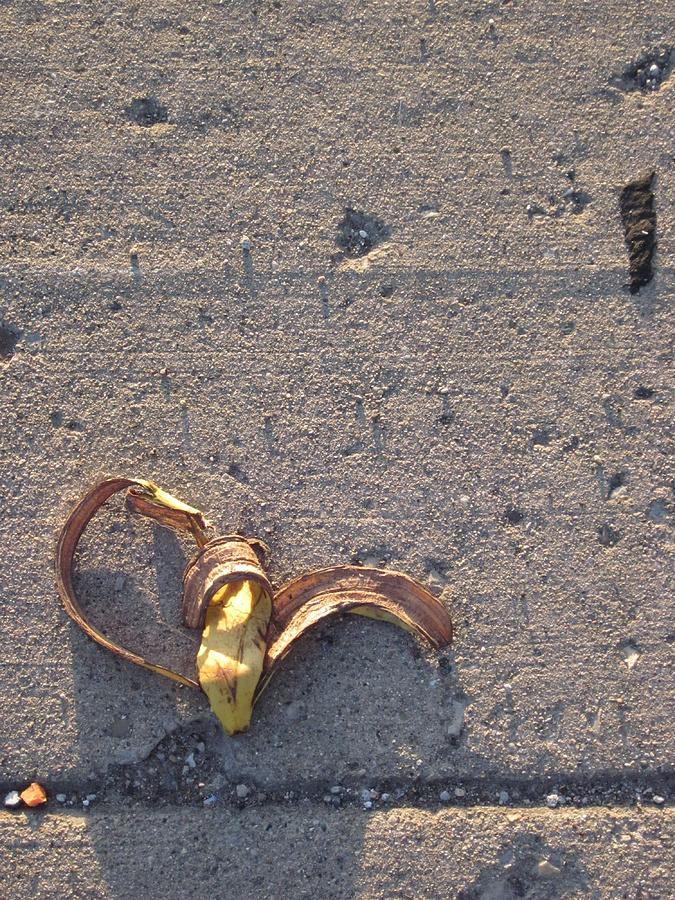 Banana Photograph - A Discarded Banana Is A Joy Forever by Guy Ricketts