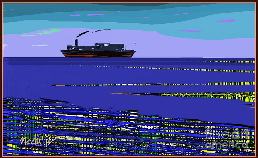 Paintings Painting - A Distant Ship by Nedunseralathan R