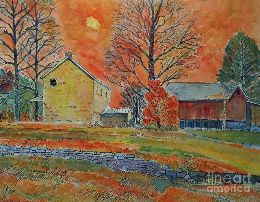 Agricultural Painting - A Dover Pennsylvania Farm by Donald McGibbon